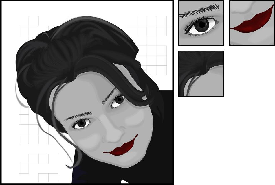Как сделать из контурный портрет